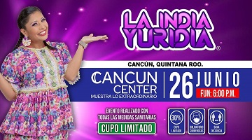 La India Yuridia en Cancún
